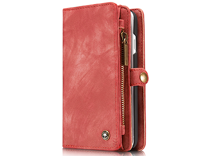 CaseMe 2-in-1 Synthetic Leather Wallet Case for iPhone 8/7 - Rose Leather Wallet Case