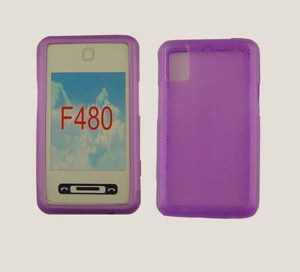 TPU Gel Case for F480 - Purple Soft Cover