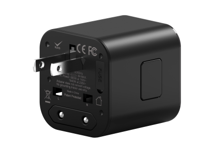 WiWU Universal Overseas Travel Adapter  - Black