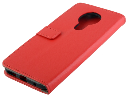 Synthetic Leather Wallet Case with Stand for Nokia 5.3 - Red Leather Wallet Case