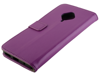 Synthetic Leather Wallet Case with Stand for vivo X50 Lite - Purple Leather Wallet Case