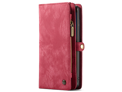 CaseMe 2-in-1 Synthetic Leather Wallet Case for Samsung Galaxy Note20 - Pink/Blush Leather Wallet Case
