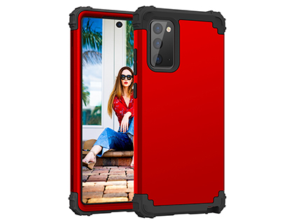 Defender Case for the Samsung Galaxy Note20 - Red Impact Case