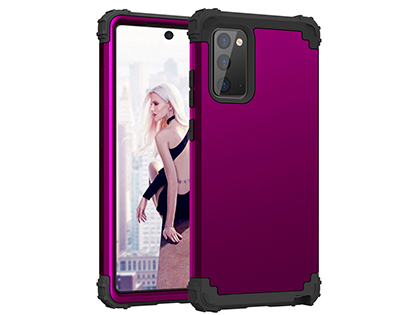 Defender Case for the Samsung Galaxy Note20 - Plum Impact Case