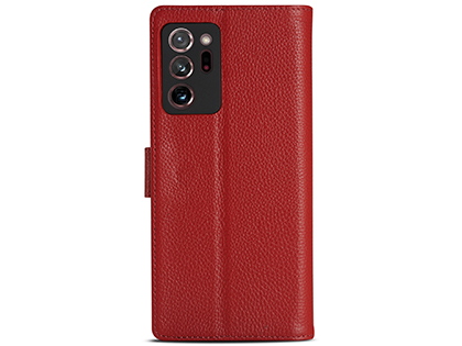 Premium Leather Wallet Case for Samsung Galaxy Note20 - Red Leather Wallet Case