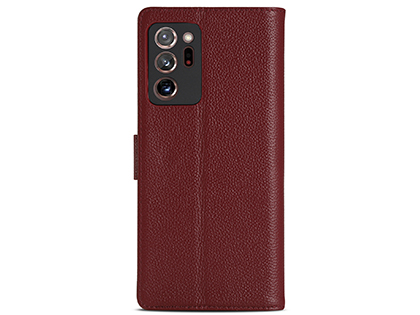 Premium Leather Wallet Case for Samsung Galaxy Note20 - Burgundy