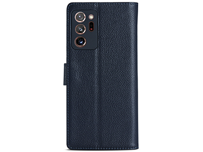 Premium Leather Wallet Case for Samsung Galaxy Note20 - Midnight Blue Leather Wallet Case
