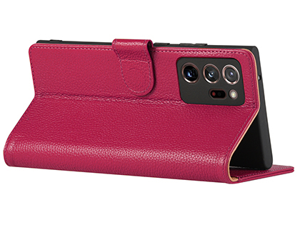 Premium Leather Wallet Case for Samsung Galaxy Note20 - Pink