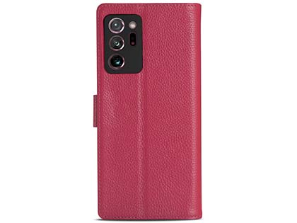 Premium Leather Wallet Case for Samsung Galaxy Note20 Ultra - Pink Leather Wallet Case