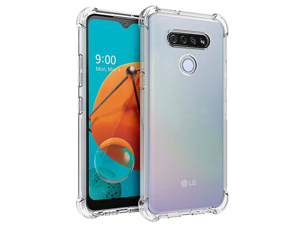 Gel Case with Bumper Edges for LG K61 - Clear Soft Cover