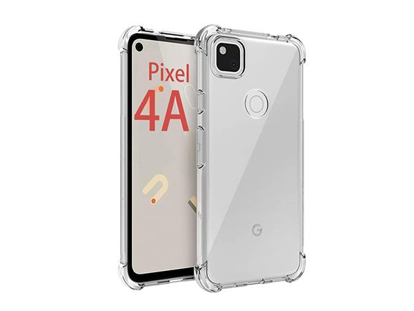 Gel Case with Bumper Edges for Google Pixel 4a - Clear Soft Cover