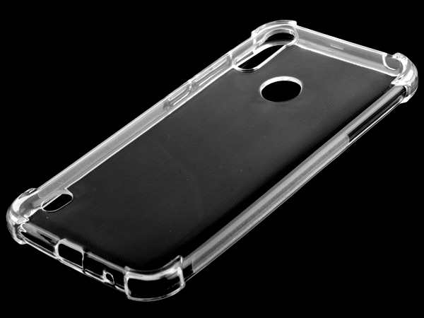 Gel Case with Bumper Edges for Motorola Moto E6s (2020) - Clear Soft Cover