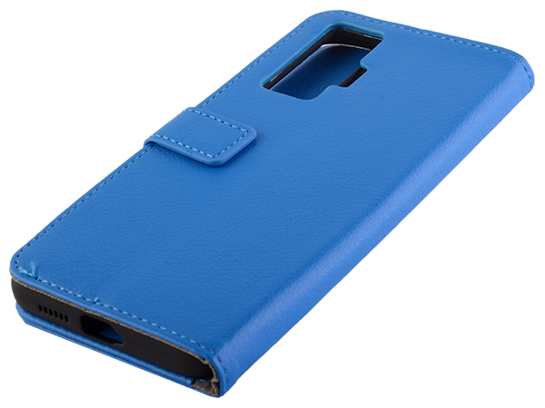 Synthetic Leather Wallet Case with Stand for vivo X50 Pro - Blue Leather Wallet Case
