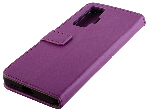 Synthetic Leather Wallet Case with Stand for vivo X50 Pro - Purple Leather Wallet Case