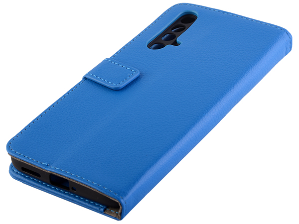 Synthetic Leather Wallet Case with Stand for OPPO RealMe X3 SuperZoom - Blue Leather Wallet Case