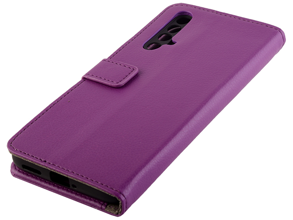 Synthetic Leather Wallet Case with Stand for OPPO RealMe X3 SuperZoom - Purple Leather Wallet Case