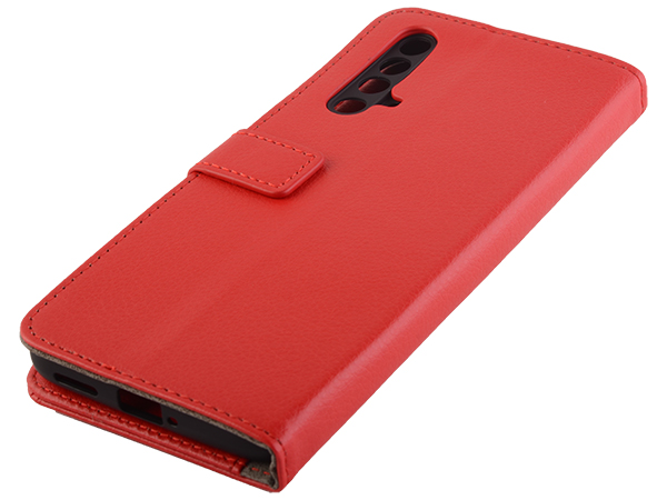 Synthetic Leather Wallet Case with Stand for OPPO RealMe X3 SuperZoom - Red Leather Wallet Case