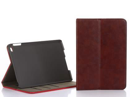 Synthetic Leather Case with Stand for iPad Mini 1/2/3 - Burgundy