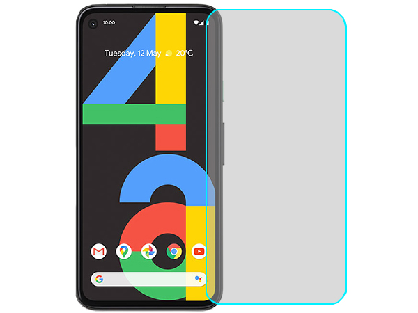 Flat Glass Screen Protector with Full Adhesive for Google Pixel 4a - Screen Protector