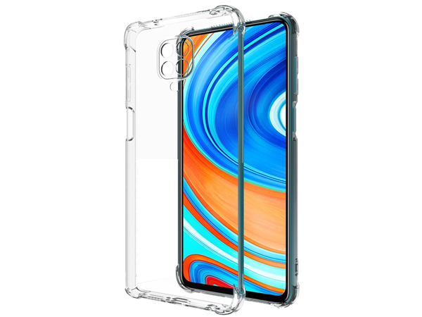 Gel Case with Bumper Edges for Xiaomi Redmi Note 9 Pro - Clear Soft Cover