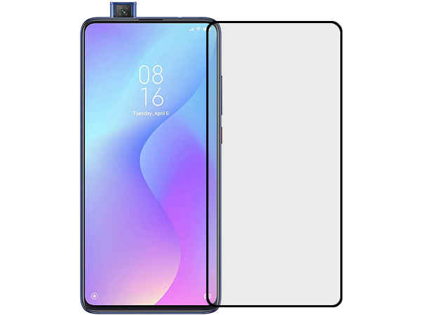 Anti Glare Tempered Glass Screen Protector for the Xiaomi Mi 9T - Black Screen Protector
