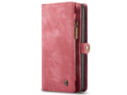 CaseMe 2-in-1 Synthetic Leather Wallet Case for Samsung Galaxy S20 FE 5G - Pink/Blush Leather Wallet Case