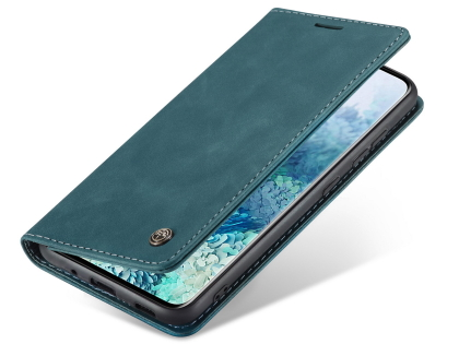 CaseMe Slim Synthetic Leather Wallet Case with Stand for Samsung Galaxy S20 FE 5G - Teal
