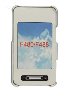 Back Case for Samsung F480 - White Hard Case