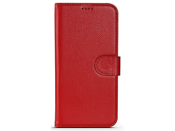 Premium Leather Wallet Case for Apple iPhone 12 Pro Max - Red