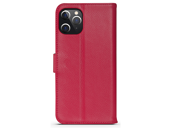 Premium Leather Wallet Case for Apple iPhone 12 Pro Max - Pink Leather Wallet Case