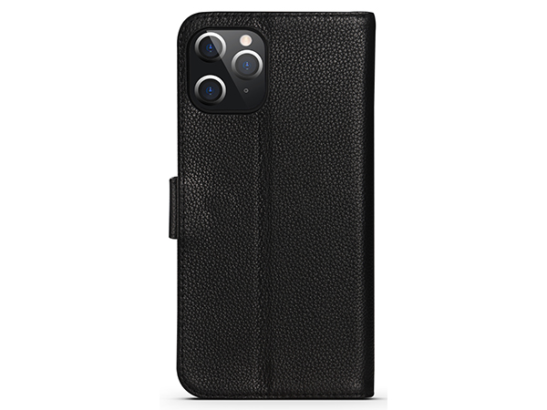 Premium Leather Wallet Case for Apple iPhone 12 Pro Max - Black Leather Wallet Case