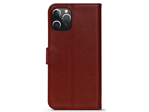 Premium Leather Wallet Case for Apple iPhone 12 Pro - Burgundy Leather Wallet Case