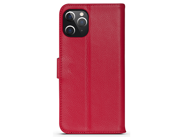 Premium Leather Wallet Case for Apple iPhone 12 Pro - Pink Leather Wallet Case