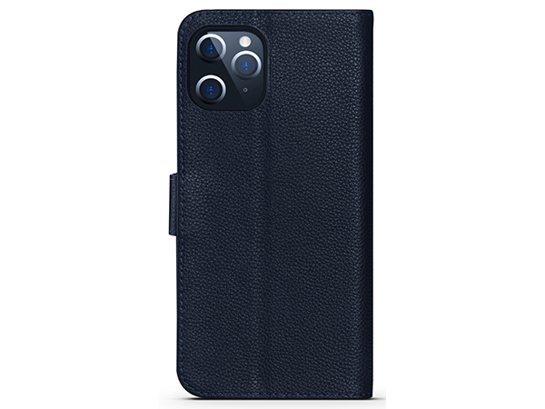 Premium Leather Wallet Case for Apple iPhone 12 Pro - Midnight Blue Leather Wallet Case