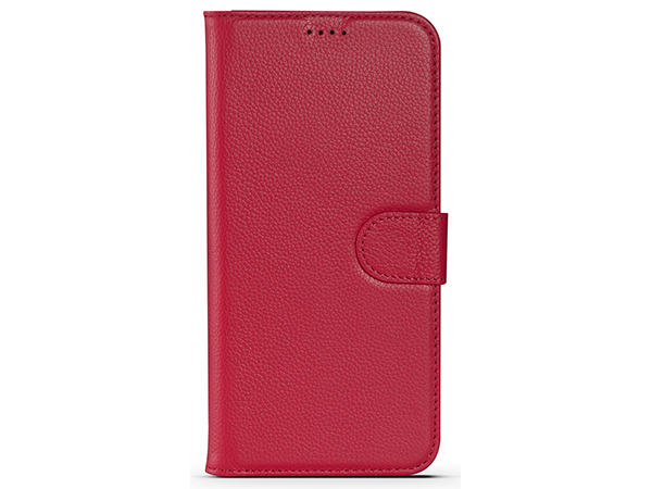 Premium Leather Wallet Case for Apple iPhone 12 - Pink