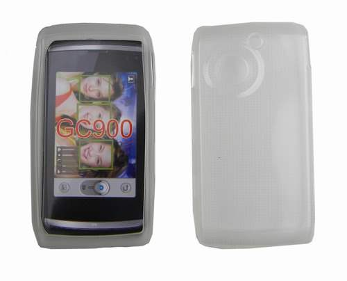 Jelly Case for LG GC900 - Clear Leather Flip Case