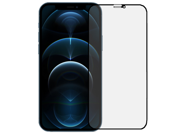 Anti Glare Tempered Glass Screen Protector for the Apple iPhone 12 Pro - Black