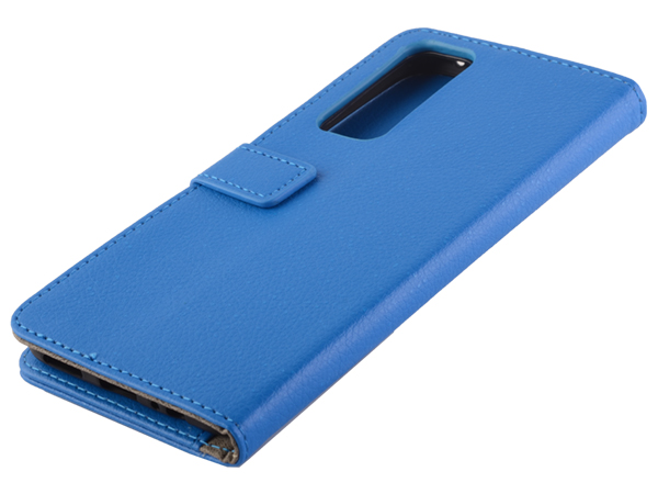 Synthetic Leather Wallet Case with Stand for vivo Y70 - Blue Leather Wallet Case