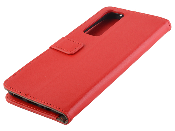Synthetic Leather Wallet Case with Stand for vivo Y70 - Red Leather Wallet Case
