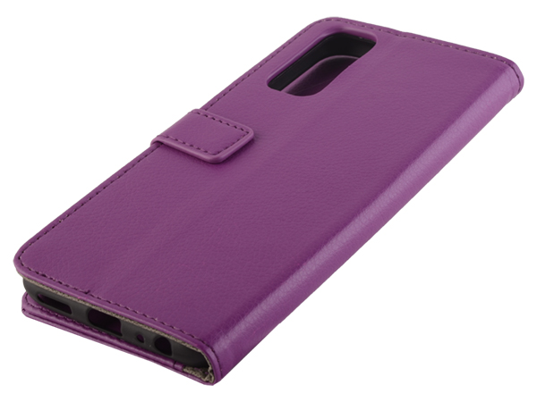 Synthetic Leather Wallet Case with Stand for vivo Y20s - Purple Leather Wallet Case