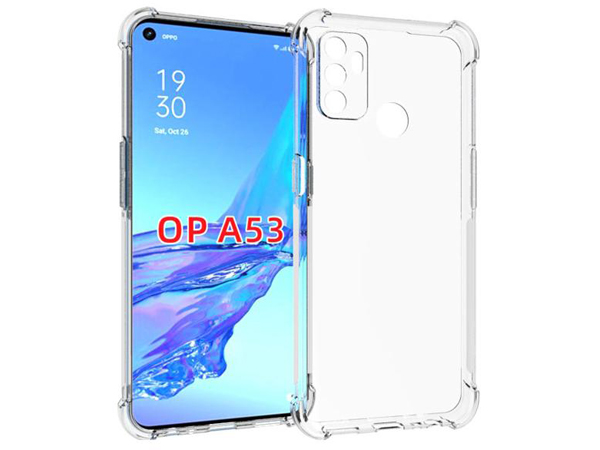 Gel Case with Bumper Edges for OPPO A53s/A53 (2020) - Clear Soft Cover
