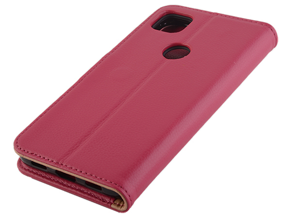 Premium Leather Wallet Case for Google Pixel 5 - Pink Leather Wallet Case