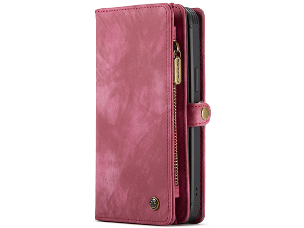 CaseMe 2-in-1 Synthetic Leather Wallet Case for iPhone 12 Pro Max - Pink/Blush