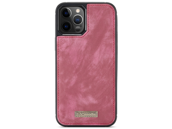 CaseMe 2-in-1 Synthetic Leather Wallet Case for iPhone 12 Pro - Pink/Blush