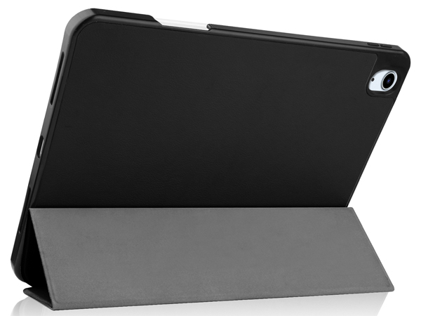 Synthetic Leather Flip Case with Stand for iPad Air 4 - Black