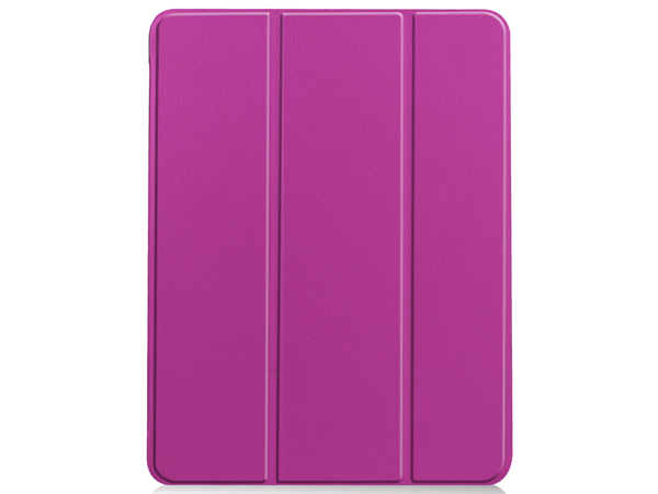 Synthetic Leather Flip Case with Stand for iPad Air 4 - Purple