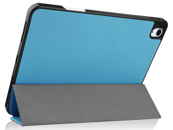 Synthetic Leather Flip Case with Stand for iPad Air 4 - Sky Blue