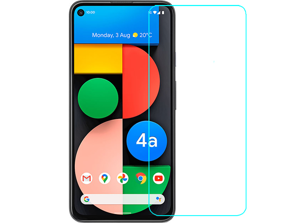 Flat Glass Screen Protector with Full Adhesive for Google Pixel 4a 5G - Screen Protector