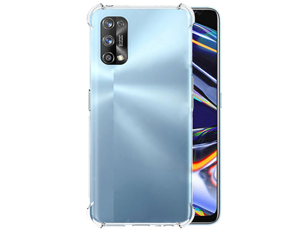 Gel Case with Bumper Edges for OPPO Realme 7 Pro - Clear Soft Cover