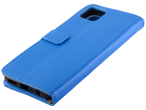 Synthetic Leather Wallet Case with Stand for Realme C11 - Blue Leather Wallet Case